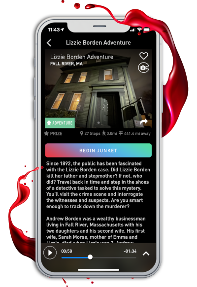 How does the Lizzie Borden Mystery Game work?