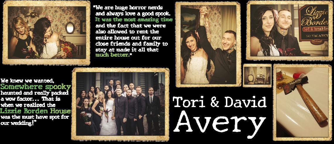 Tori & David Avery's Lizzie Borden House Wedding