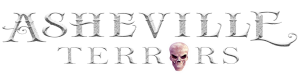 photo shows the asheville terrors logo, with text that says asheville terrors with a skull as one of the 'o's'