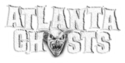 photo shows the atlanta ghosts logo which says atlanta ghosts with a little bat head as the 'o'