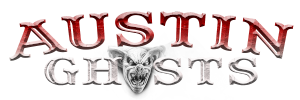 photo shows the austin ghosts logo which reads 'austin ghosts'