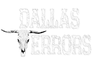 photo shows the dallas terrors logo, it says dallas terrors with a cow head as the letter 't'