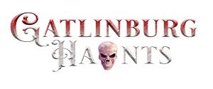 photo shows the gatlinburg haunts logo that says 'gatlinburg haunts'