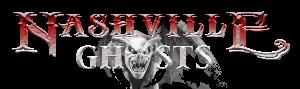 photo shows the nashville ghosts logo that reads 'nashville ghosts'