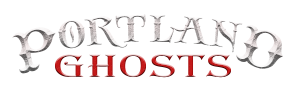 photo shows the portland ghosts logo, which reads 'portland ghosts'