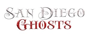 photo shows the logo for san diego ghosts which says 'san diego ghosts'