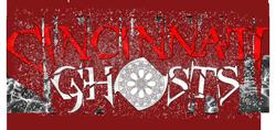 photo shows the cincinnati ghost logo that says 'cincinnati ghosts'