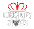 photo shows the queen city ghosts logo that say queen city ghosts with a crown behind it